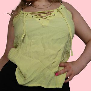 LOVE CULTURE MUTED NEON GREEN TANK TOP